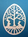 Easter egg. Paper cutting. Royalty Free Stock Photo