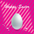 Easter egg in pink background white with stripes vector Royalty Free Stock Photos