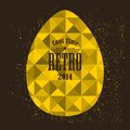 Easter egg in retro style.