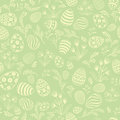 Easter egg seamless pattern. Floral holiday background.