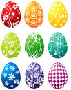 Easter egg set Royalty Free Stock Photos