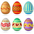 Easter egg set Stock Photo