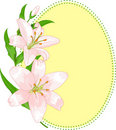 Easter egg shape with lilies Stock Photography