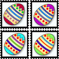 Easter egg stamps Stock Photo