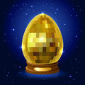 Easter egg on a stand shine decorative illustration Stock Images