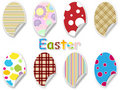 Easter egg sticker set Royalty Free Stock Photos