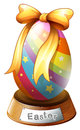 An easter egg trophy illustration of on a white background Royalty Free Stock Image