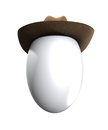 Easter egg that is wearing a cowboy hat Stock Photography