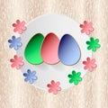Easter egg on wood vector background