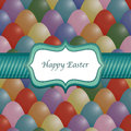 Easter egg wrapping ribbon frame text separate layer background pattern seamless clipping path Stock Photography
