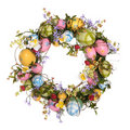 Easter Egg Wreath Stock Image