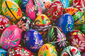 Easter Eggs arrangement Royalty Free Stock Photography