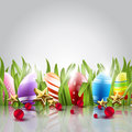 Easter eggs background with elegant Royalty Free Stock Image