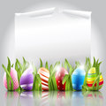 Easter eggs background with elegant Royalty Free Stock Photos