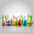 Easter eggs background with elegant Royalty Free Stock Photography