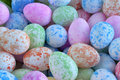 Easter eggs background multicolored basic Royalty Free Stock Images