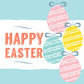 Easter eggs background vector illustration Royalty Free Stock Photo