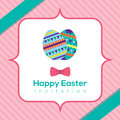 Easter eggs with banner vector illustration Stock Photos