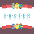 Easter eggs with banner vector illustration Stock Photography
