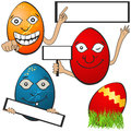 Easter eggs with banners collection of different serial Stock Image