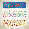 Easter eggs banners set vector illustration eps contains transparencies Royalty Free Stock Photo