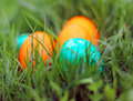 Easter eggs beautiful decorated and hand painted Royalty Free Stock Photos