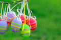 Easter eggs beautiful decorated and hand painted Stock Photography