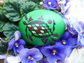 Easter eggs beautifully decorated painted Stock Image