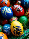 Easter eggs beautifully decorated painted Royalty Free Stock Photo