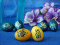 Easter eggs beautifully decorated painted Royalty Free Stock Image
