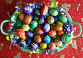 Easter eggs beautifully decorated painted Royalty Free Stock Images
