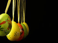 Easter eggs on a black background. Royalty Free Stock Photo