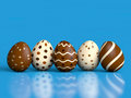 Easter Eggs on blue Royalty Free Stock Photography