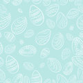Easter eggs blue pattern