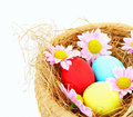 Easter eggs border Stock Photos
