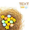 Easter eggs border Royalty Free Stock Image