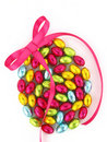 Easter eggs with a bow Royalty Free Stock Photos