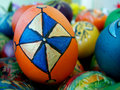 Easter eggs a bunch of beautiful painted Royalty Free Stock Photo