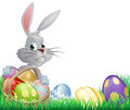 Easter eggs bunny Royalty Free Stock Photo