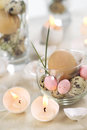 Easter eggs-candles Stock Photo