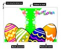 Easter Eggs Card Royalty Free Stock Photography