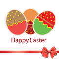 Easter eggs card with colourful eggs Royalty Free Stock Photos