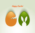 Easter eggs card greeting sample Stock Photography