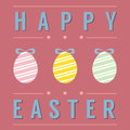 Easter eggs card vector illustration Stock Images