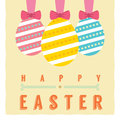 Easter eggs card vector illustration Royalty Free Stock Photography