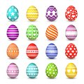 Easter eggs collection. Christian resurrection tradition happy easter celebration egg with colorful pattern vector