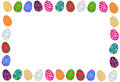 Easter eggs colorful border illustration Stock Images