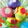Easter eggs colorful egg decoration spring Royalty Free Stock Images