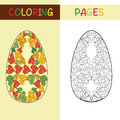 Easter eggs for coloring book for adult and children