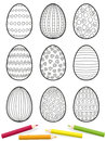 Easter Eggs Coloring Picture